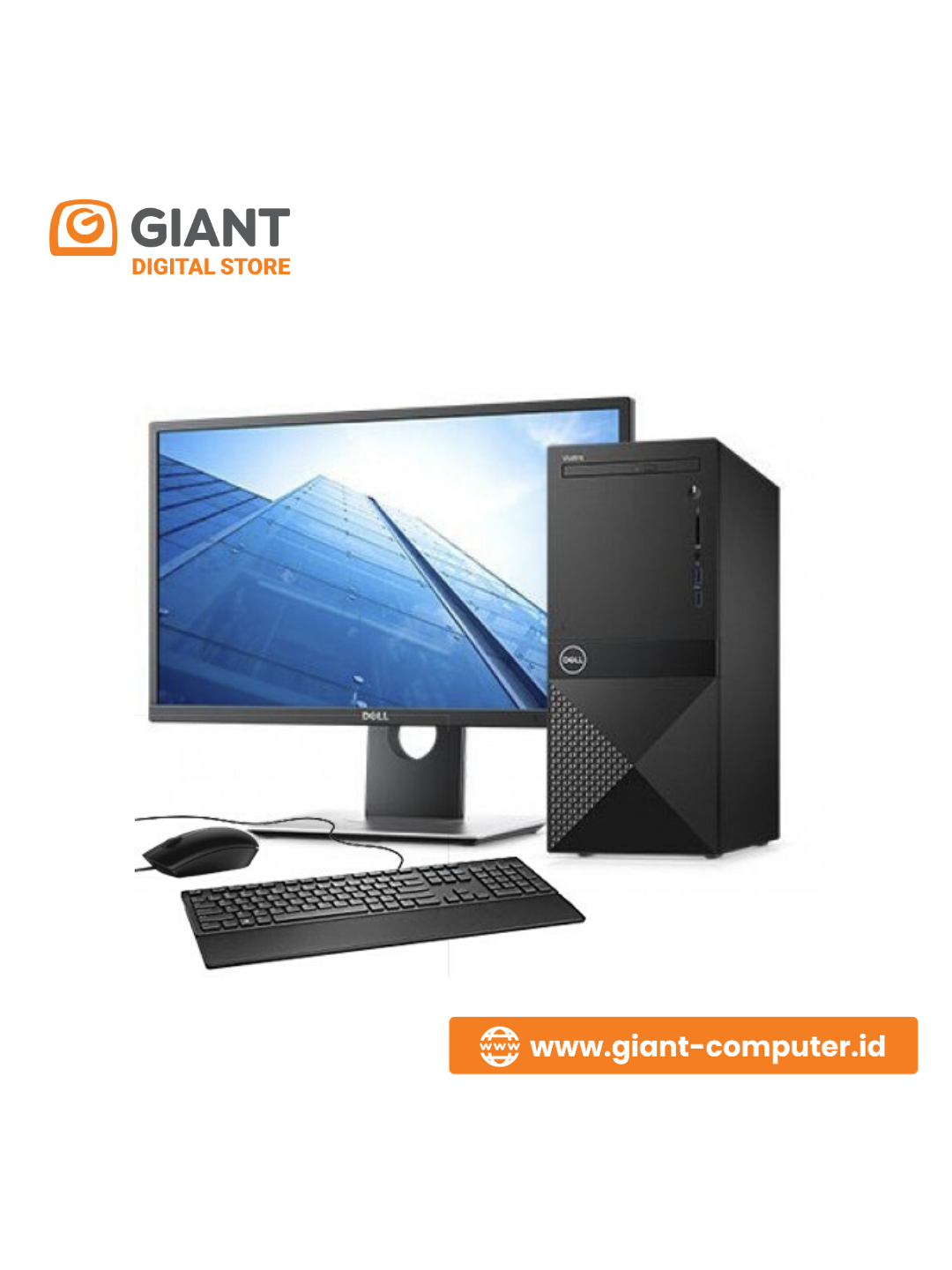 "PC BRANDED DELL VOSTRO 3670MT (I3-9100 / 4 GB / 1TB / DVD RW / 21.5"" / DOS)"