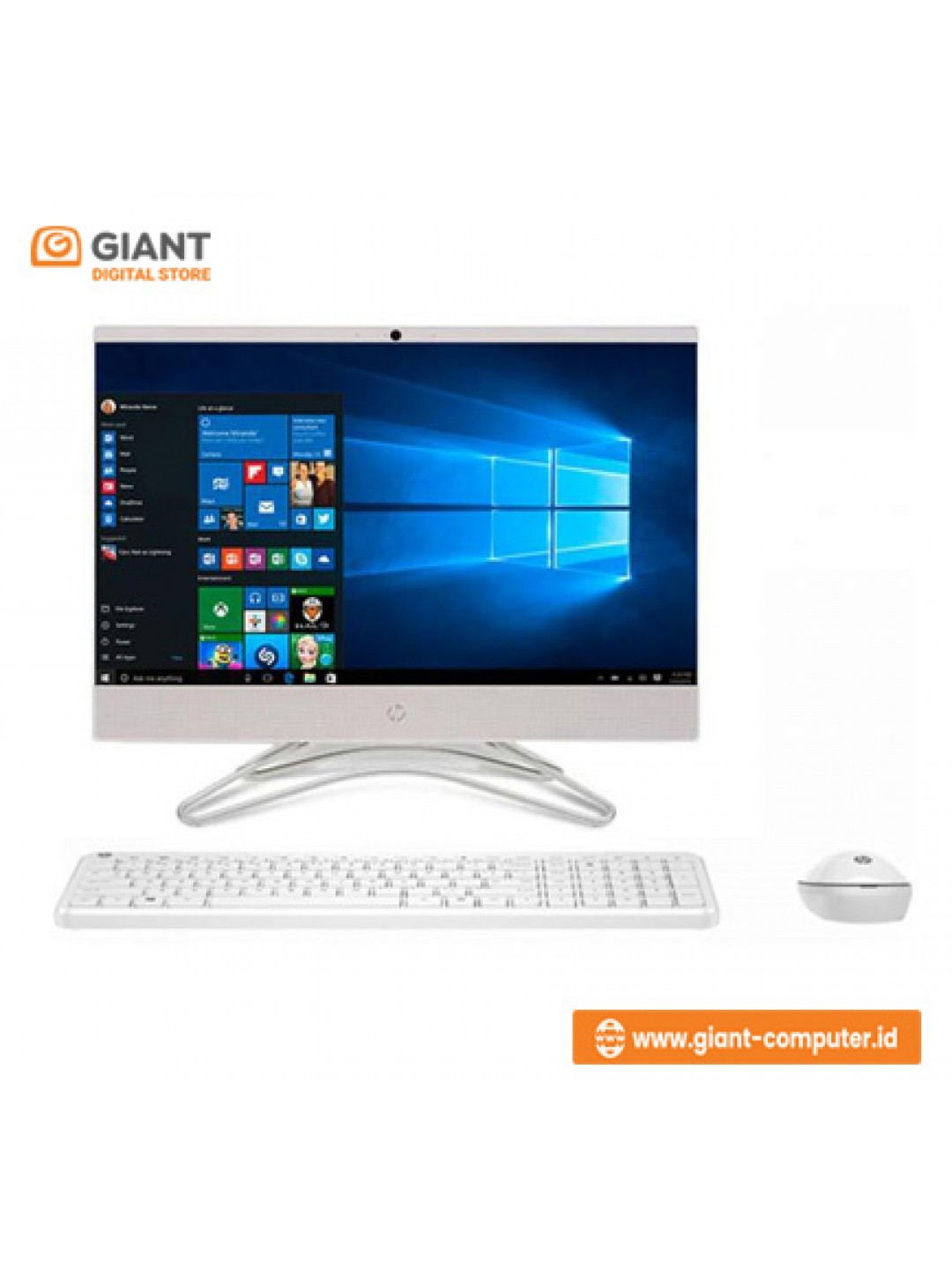 "PC HP AIO 22-C0033D (I3-8130U / 4GB / 1TB / VGA INTEL / 21.5"" / WIN10)"