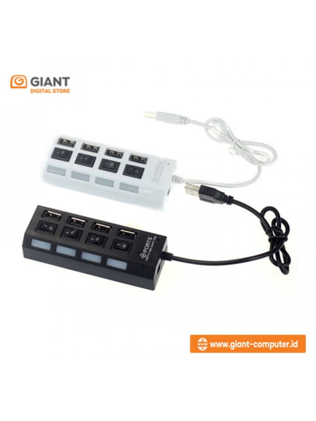 USB HUB 4 PORT ON OFF