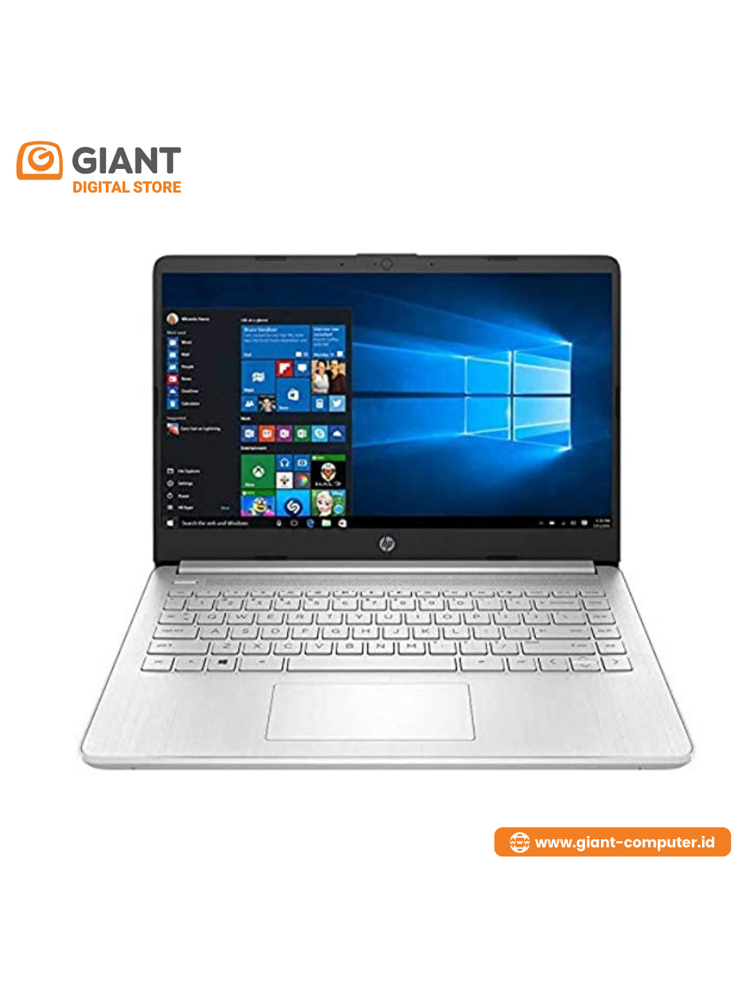 "HP 14S-FQ0020AU ( R3-3250U / 8GB / 512GB SSD / 14"" FHD / VGA AMD INTEGRATED / WIN10+OHS ) SILVER"