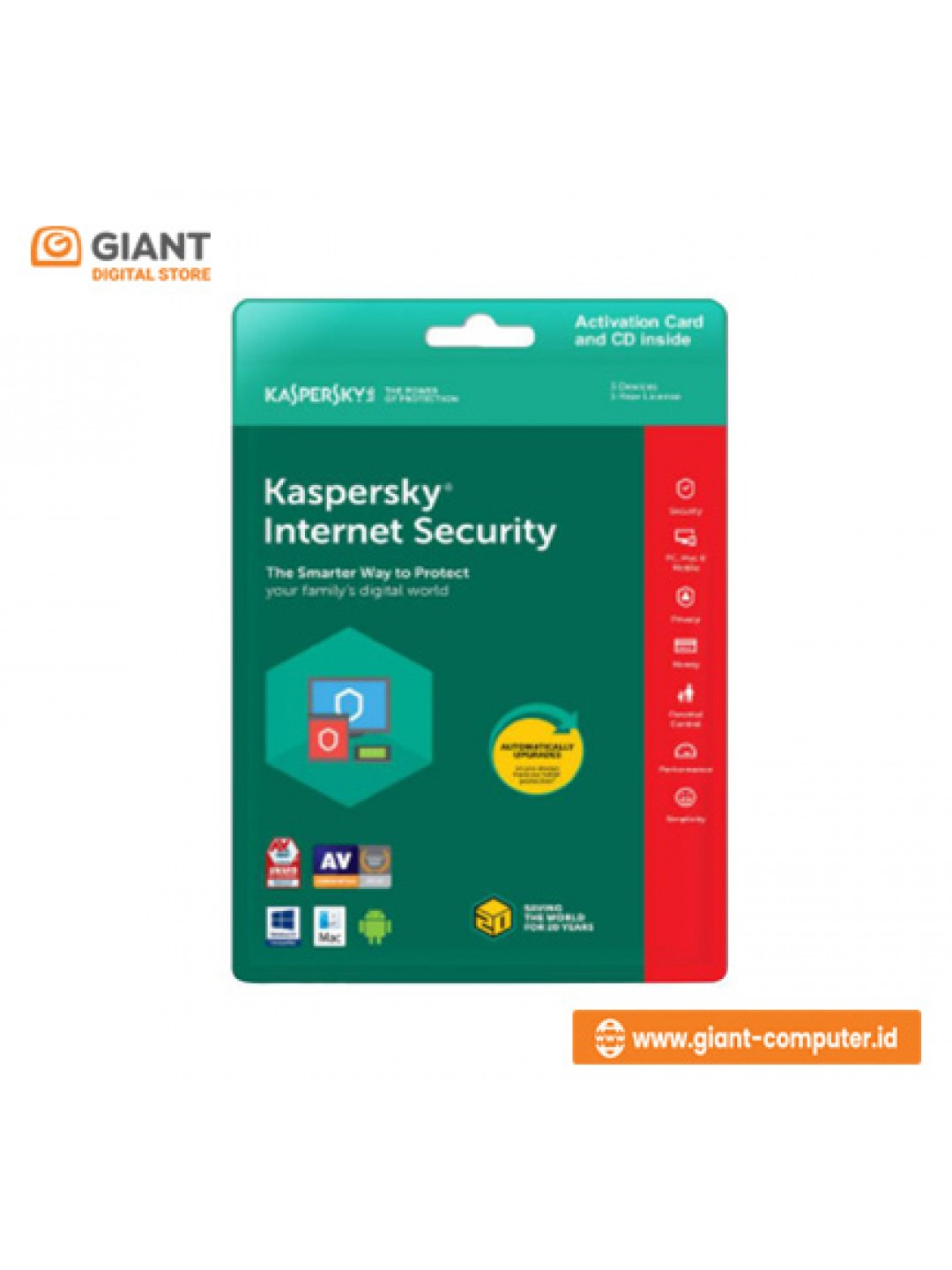 KASPERSKY INTERNET SECURITY 1 USER 2019
