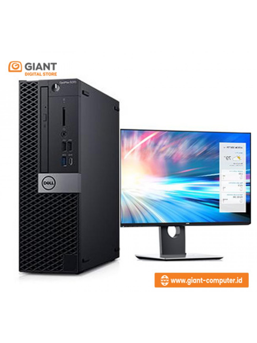 "PC DELL OPT 5070MT (I7-9700 / 8GB / 1TB / LCD 24"" P2419H / DVD RW / VGA 2GB / WIN10 PRO)"