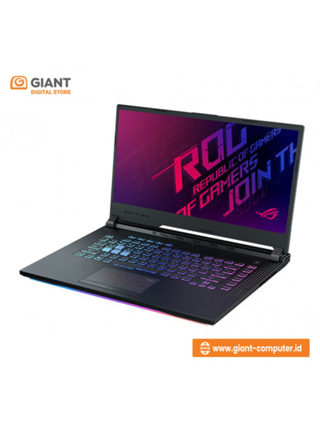 LAPTOP ASUS ROG G512LI-I565B6T (I5-10300H/SSD 512GB/GTX1650TI 4GB/RGB/15.6Inc 144Hz/WIN10) Black